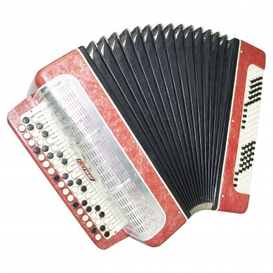 Bayan Melodiya, Russian Chromatic Button Accordion, 2 Registers, New Straps 1405, Button Box Accordian, Rich and Powerful sound!