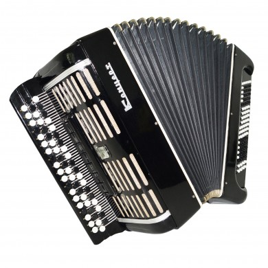 Double Cassotto Tula Russian Button Accordion, Bayan Concert, Poweful Sound 1404, Great Chromatic Accordian.