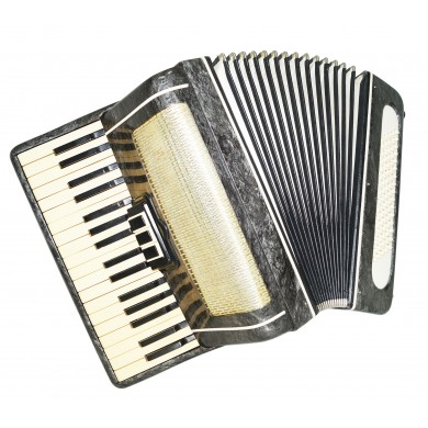 Folk Russian Piano Accordion for Beginner Children Kids, 80 Bass New Straps 1419, Keyboard Accordian Volna, Amazing sound.