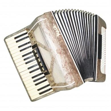 Original Ukrainian Piano Accordion Mriya, Amazing Sound, 80 Bass New Straps 1432, Folk Musical Instrument.