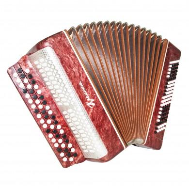 Ukrainian Chromatic Button Accordion, Bayan Kreminne, 100 Bass, B System, 1431 Very Beautiful sound.