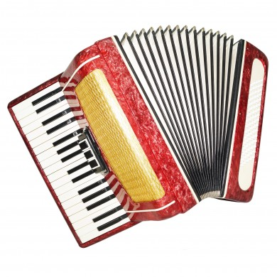 Perfect Russian Piano Accordion Volna Beginner Children, 80 Bass New Straps 1435, Keyboard Accordian, Amazing sound.