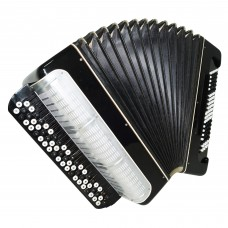 Converter Free Bass and Stradella Bayan Rubin, Russian Accordion New Straps 1437, Rich and Powerful sound.