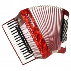 Weltmeister Stella, 96 Bass, made in Germany, Piano Accordion, New Straps, 1436, Excellent Sound!