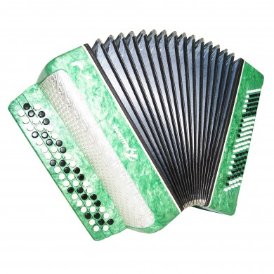 Folk Ukrainian Button Accordion, Bayan Kreminne, 100 Bass, B System, Case, 1445 Very Beautiful sound.