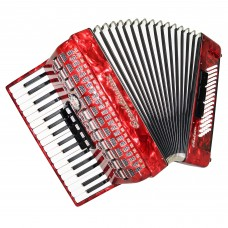 Close to NEW! Royal Standard Meteor, German Piano Accordion New Straps Case 1446, Very Rich and Quality Sound.