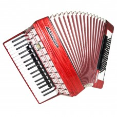 Close to NEW! Weltmeister Serino, 96 Bass German Piano Accordion, incl Case 1447, Quality Keyboard Accordian, Rich and Powerful sound.