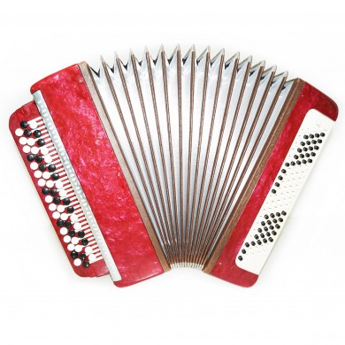 Close to NEW! Russian Bayan for Beginner Children Kids, Chromatic Accordion 1452, 100 Bass, incl Case, B System, Beautiful sound.