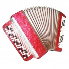 Russian Bayan for Beginner Children, Button Accordion, 100 Bass, incl Case, 1452, B System, Beautiful sound.
