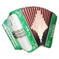 Close to NEW! Belarus Harmonica, Button Accordion, 25x25 2 Registers Garmon 1454, Very Beautiful sound.