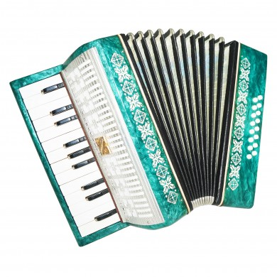 Close to NEW Russian Accordion Malysh Lightweight for Children Kid Beginner 1455, incl. Case, Very Beautiful sound.