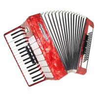 Close to NEW! Weltmeister Stella, 80 Bass German Accordion, Case New Straps 1456, Quality Piano Accordian, Rich and Powerful sound.