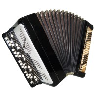 Bayan Tula Tulskiy made in Russia, Vintage Button Accordion Case New Straps 1457, Excellent sound.