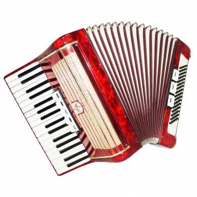 Weltmeister, Vintage German Piano Accordion, 80 Bass, incl. New Straps Case 1465, Bright and Quality sound!