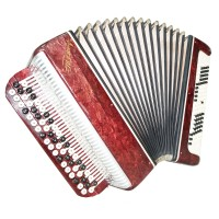Russian Chromatic Button Accordion Tenor, Bayan 100 Bass, New Straps, Case, 1467, Classic Musical Instrument, Excellent sound!