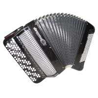 Bayan Jupiter Lux Double Cassotto Russian Button Accordion, Converter Free bass Stradella 1469, Great Accordian.