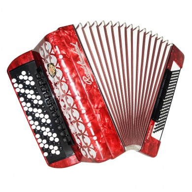 Almost Unused Royal Standard Romance Button Accordion made in Germany Bayan 1470, New Straps, Case, Full Size 120 Bass, Weltmeister, Quality and Powerfull sound!