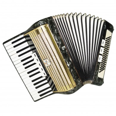Weltmeister, 80 Bass, made in Germany, Piano Accordion incl New Straps Case 1475, Bright and Quality sound!
