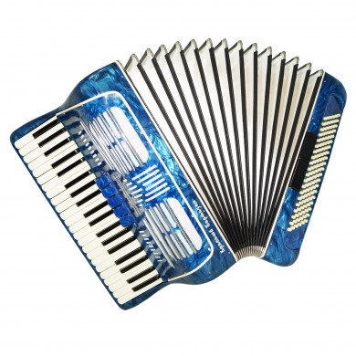 Concert Russian Piano Accordion Red Partisan, 120 Bass Stradella New Straps 1477, Very Beautiful and Powerful Sound.