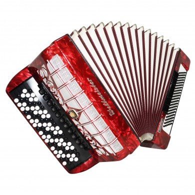 Close to NEW! 5 Row Weltmeister Grandina Button Accordion, Bayan 120 Bass, 1484, made in Germany, incl. Straps, Case, Very Beautiful and Powerful sound.