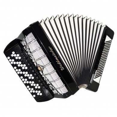 5 Row Weltmeister Grandina Button Accordion, Bayan made in Germany 120 Bass 1486 incl. New Straps, Case, Very Beautiful and Powerful sound.