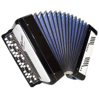 Folk Bayan Tulskiy, made in Tula Russia Button Accordion 100 bass incl Case 1487, Excellent sound.