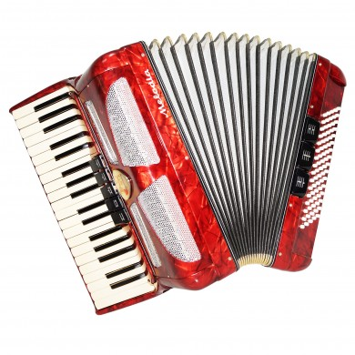 Almost Unused Accordion Lignatone Melodia Czechoslovakia 80 Bass New Straps 1488, Very Nice and Beautiful sound!