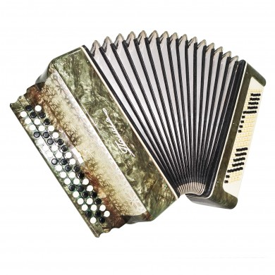 Folk Bayan Polissya, 100 Bass Button Accordion, made in Ukraine, 2 Switches 1490, B System, Very Beautiful Sound!