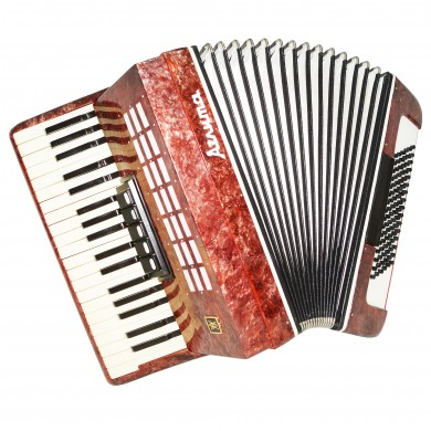 Almost Unused! Piano Accordion Aelita, 96 Bass, made in Russia, Stradella, 1491, Very Beautiful Keyboard Accordian! Excellent sound!