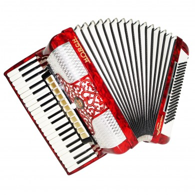 Close to NEW! Horch Superior 120 Bass made in Germany Piano Accordion, Case 1492, Very Beautiful and Powerful Sound!