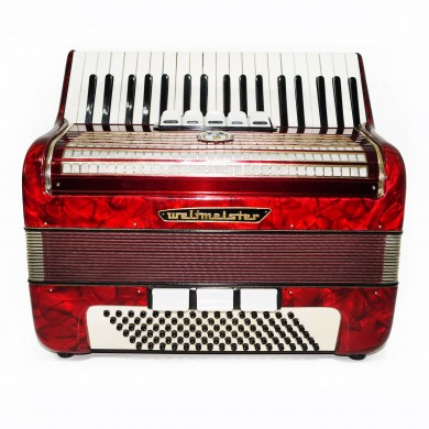 Original Weltmeister, 96 Bass, made in Germany, Piano Accordion, New Straps 1494, Very Bright and Quality sound!