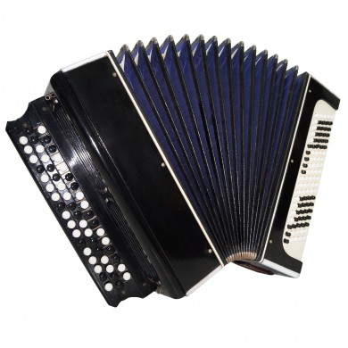 Vintage Tulskiy Bayan, made in Tula Russia, Rare Chromatic Button Accordion 1499, Very Beautiful and Very Powerful sound.