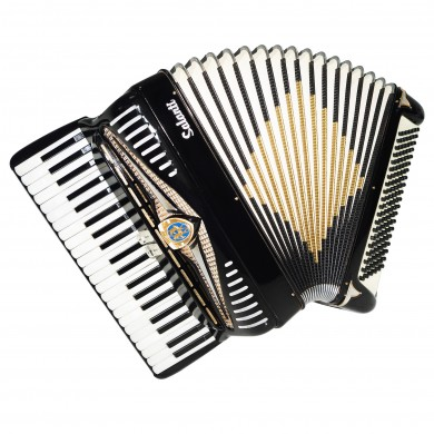Rare Lightweight Piano Accordion Salanti, made in Italy Full Size 120 Bass 1510, New Straps, Wonderful Sound!