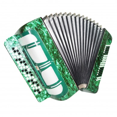 Double Cassotto Bayan Moscow, made in Russia, Button Accordion, New Straps, 1511, Goegeous and Poweful Sound! Great Concert Chromatic Accordian!