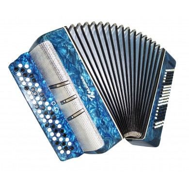 Concert Bayan Kreminne Great Ukrainian Button Accordion 120 Bass New Straps 1517, 2 Registers, Very Beautiful sound and powerful sound!