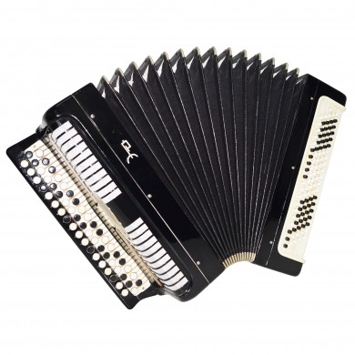 Folk Bayan Etude, made in Tula, Russia, Chromatic Button Accordion 100 bass 1516, Very Beautiful and Powerful Sound!