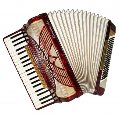 Close to New! Full Size Barcarole Piano Accordion 120 Bass, made in Germany 1521, Amazing and Beautiful sound!