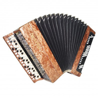 Bayan Tula 202, made in Russia, Chromatic Button Accordion, New Straps Case 1524, Bright and Quality sound!