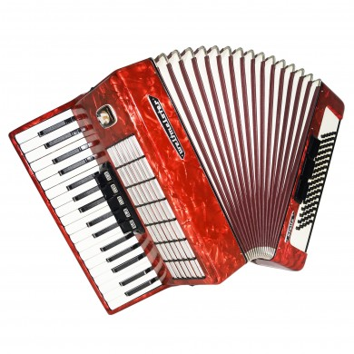 Weltmeister Stella 80 Bass, made in Germany Piano Accordion New Straps Case 1526, Bright and Quality Sound!