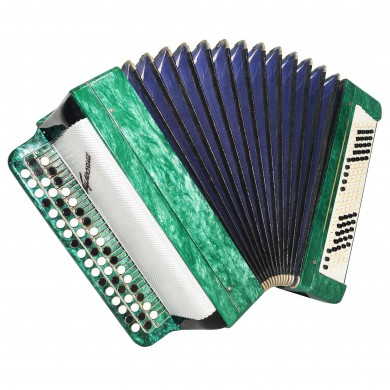 Original Tulskiy Bayan, made in Tula Russia, Button Accordion, New Straps 1527, Excellent and high quality sound!