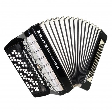 5 Row Weltmeister Grandina Button Accordion, Bayan made in Germany 120 Bass 1528 incl. New Straps, Very Beautiful and Powerful sound.