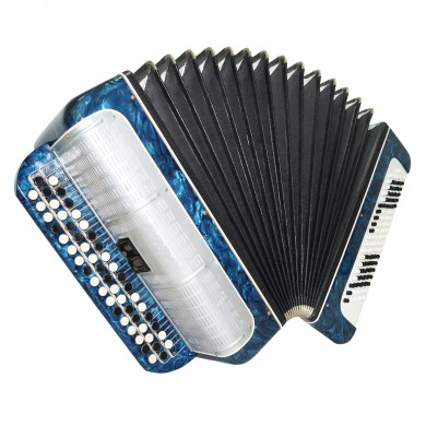 Bayan Melodiya, made in Russia, Button Accordion 2 Switches Case New Straps 1532, Button Box Accordian, Rich and Powerful sound!