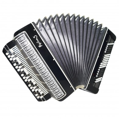 Close to NEW! Converter Bayan Free Bass Stradella Rubin 5, Button Accordion 1534, 120 Bass, incl Case, Rich and Powerful sound. Great Chromatic Accordian.