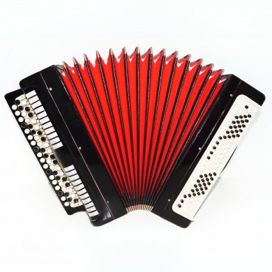 Bayan Etude, made in Tula, Russia Chromatic Button Accordion 100 Bass, Case 1535, Rich and Powerful Sound!