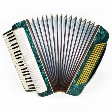 Concert Piano Accordion Poltava, 120 Bass Stradella, made in Ukraine Straps 1538, Bright and Powerful Sound.