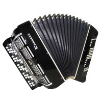 Bayan Concert Double Cassotto, Tula Russian Button Accordion, Powerful Sound 1539, New Straps, Great Chromatic Accordian.