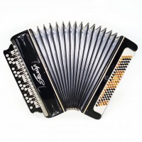 Bayan Tembr, made in Tula, Russia, Button Accordion, 100 Bass, New Straps 1541, Stradella, B System, Excellent sound!