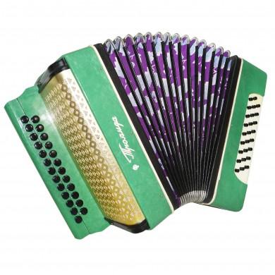 Close to New! Garmon Troyanda, Accordion Harmonica, 25x25 made in Ukraine 1544, Squeezebox, Very Nice sound!