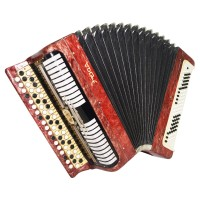 Bayan Etude, Russian Chromatic Button Accordion, made in Tula, New Straps, 1545 incl. Case, Very Beautiful Sound!