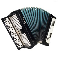 Almost Unused! Bayan Etude, made in Tula, Russian Button Accordion, Case, 1546, 100 Bass, Very Beautiful and Powerful Sound!